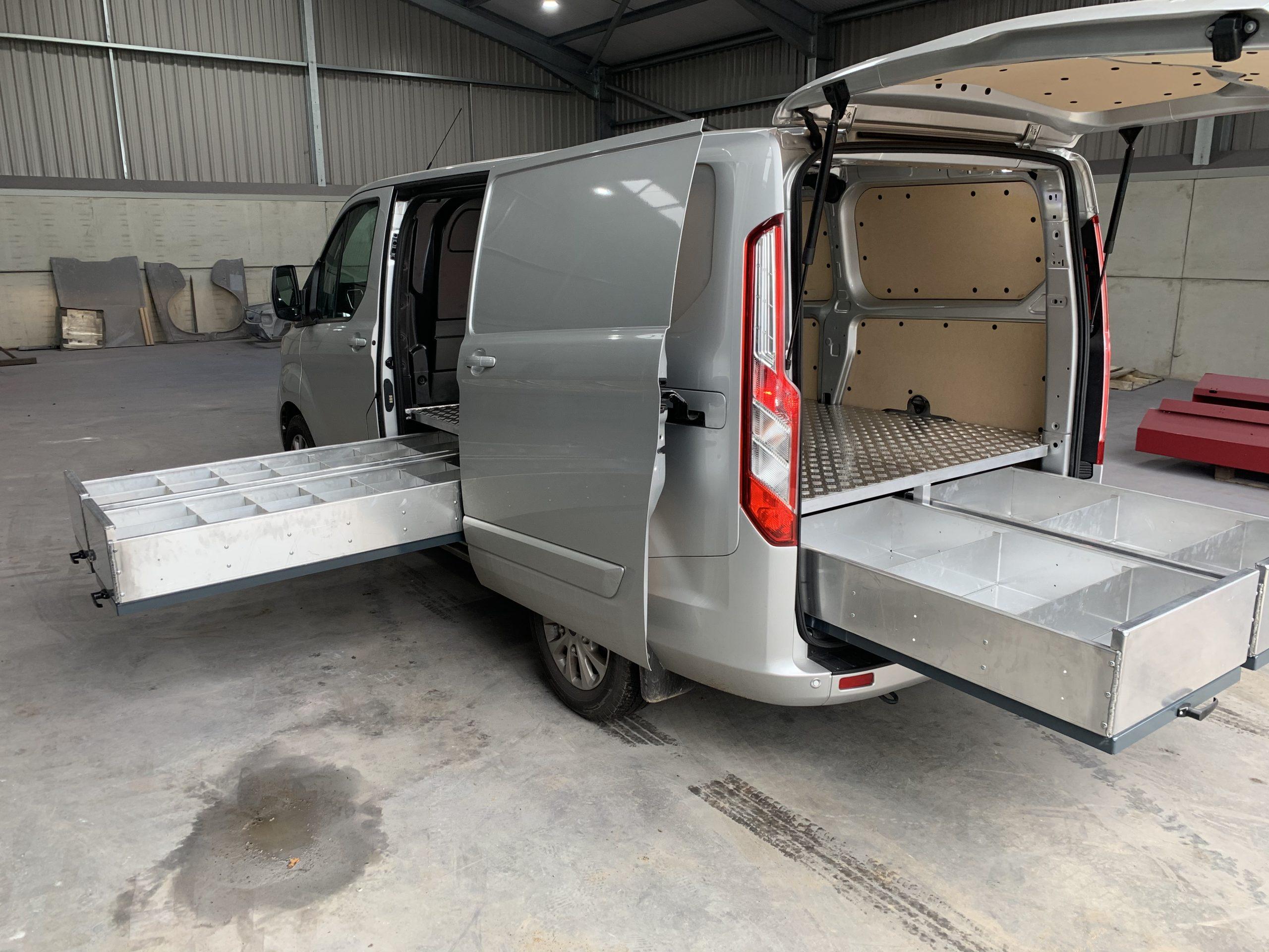 Heavy Duty twin door Van draws (150kg)